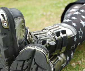 black, boots, and feet image