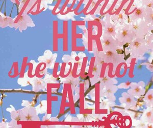 believe, cherry blossom, and flowers image