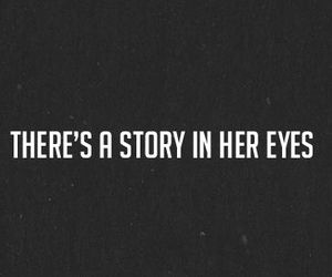 story, eyes, and quote image