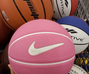 ball, nike, and pink image