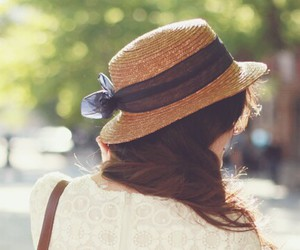 girl, hat, and lovely image