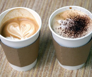 coffee, drink, and heart image