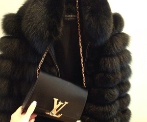 fashion, black, and fur image