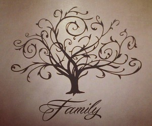 drawing, tree, and family image