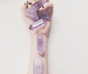 crystal, purple, and nails image