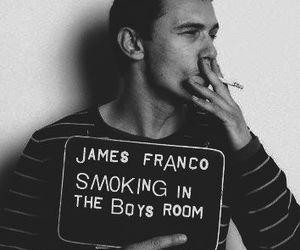 james franco, smoking, and smoke image