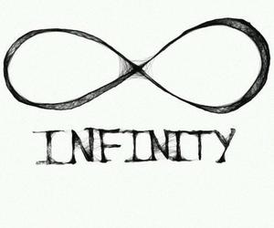 infinity, forever, and text image