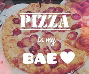 pizza food bae heart image