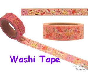 clothes pin, pink ribbon, and washi tape image