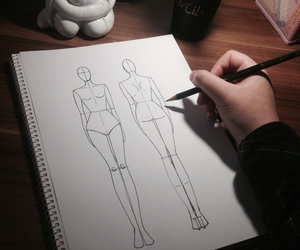 fashion design, illustration, and sketch image