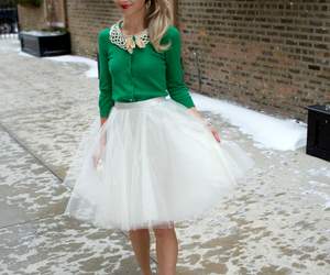 glitter pumps and ivory diy tulle skirt image