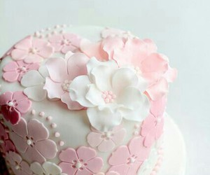 cake, flowers, and nice image
