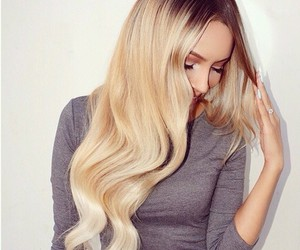 beautiful, blond, and long image