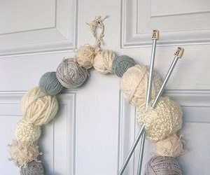 door, knitting, and light image