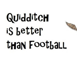 football, harry potter, and quidditch image