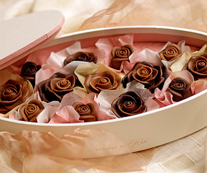 chocolate, rose, and sweet image