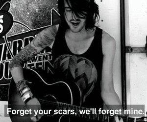 mayday parade, scars, and love image