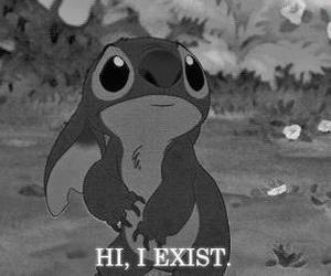 stitch, sad, and cartoon image