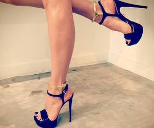 black, ruthie davis, and gold image