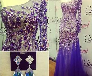 blue, diamond, and dress image