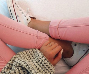 all stars, converse, and pink image