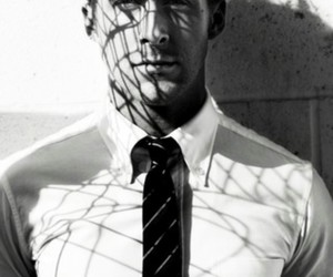 ryan gosling, sexy, and black and white image