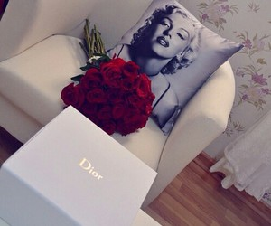 dior, rose, and flowers image