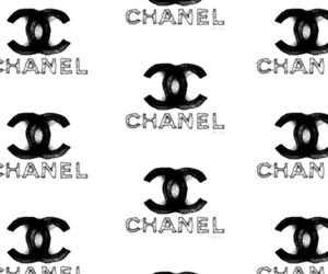 background, balck, and chanel image