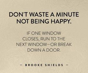 quote, brooke shields, and happy image