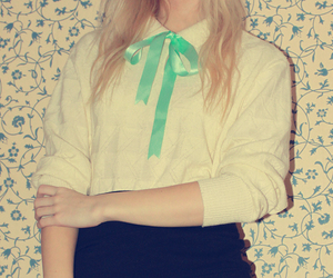 blouse, cardigan, and mint image