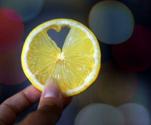 heart, lemon, and yellow image