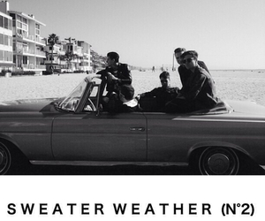 sweater weather, the neighbourhood, and black and white image