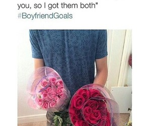 boyfriend, love, and flowers image