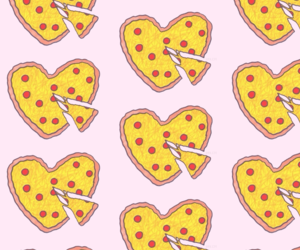 pink, pizza, and wpp image