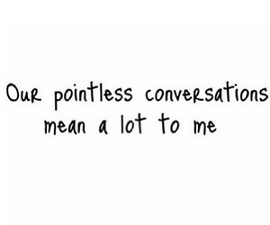conversation and pointless image
