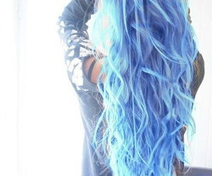 blue hair, pretty, and love image
