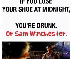sam winchester, supernatural, and drunk image