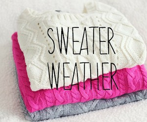 sweater, weather, and pink image