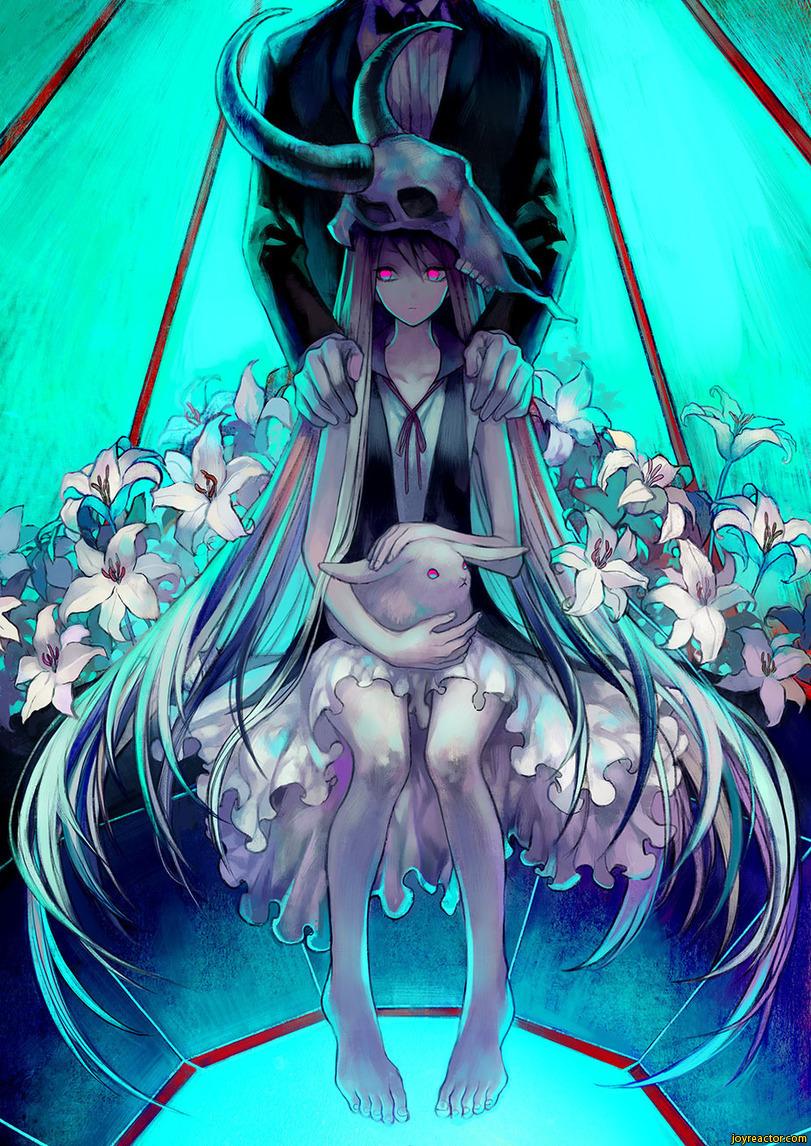 anime, anime girl, and bunny image