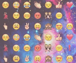 emoji, wallpaper, and galaxy image