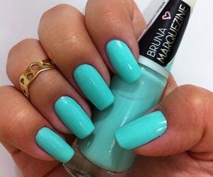 nails, ring, and aqua image