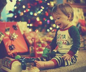 christmas, baby, and present image