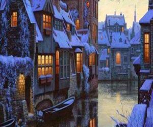 winter, belgium, and snow image