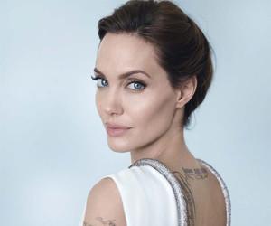Angelina Jolie, actress, and tattoo image