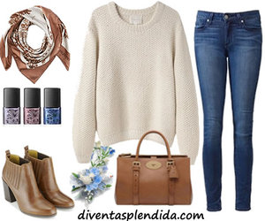 jeans, outfit, and handknit image