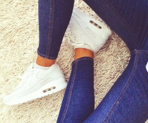 nike, white, and jeans image