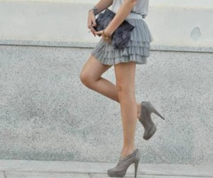 fashion, skirt, and shoes image