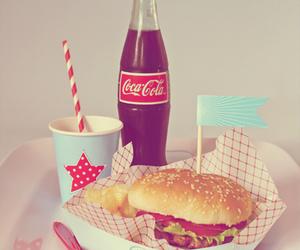 burger, coca cola, and food image