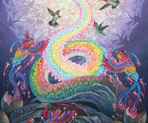 snake, trippy, and art image