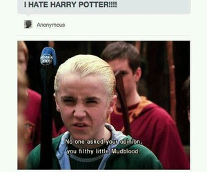 harry potter, draco malfoy, and mudblood image